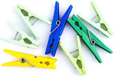 Group of various clothespins — Stock Photo