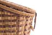 Closeup of wicker basket — Stok fotoğraf