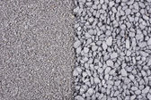 Fine and coarse gravel background — Stock Photo