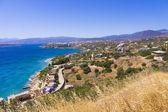 Mirabello bay e agios nikolaos vista na ilha de creta, grécia — Fotografia Stock