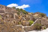 Alte ruinen in spinalonga insel, kreta, griechenland — Stockfoto