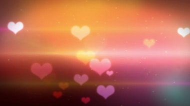 Beautiful heart shaped bokeh video with sparkles and light effects — Stock Video