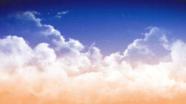 Cuore nel cielo nuvoloso — Video Stock