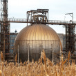 Foto Stock: Radioactive gas holder