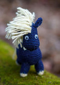 Knitted horse — Stock Photo
