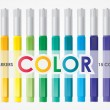 Set of Vector Colored Markers — Stock Vector
