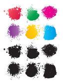 Vektor färg fläckar — Stockvektor
