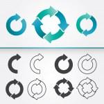 Set of Circle Arrows — Stock Vector #32434149