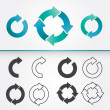 Set of Circle Arrows  — Imagen vectorial