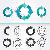 Ensemble de flèches de cercle — Vecteur
