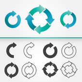Set of Circle Arrows — Stock Vector