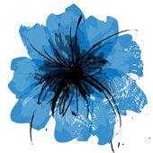 Flor pintada — Vector de stock