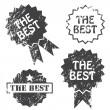 The Best Vector Stamp — Stock Vector