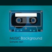 Cinta de cassette vintage — Vector de stock