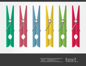 Vector Colored Pegs — Stock Vector