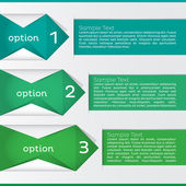 Option Infographic. Vector Illustration — Vector de stock