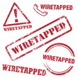 Wiretapped Stamp — Stock Vector