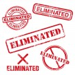 Eliminated Stamp — Stock Vector