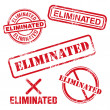 Eliminated Stamp — Stock Vector #34548257