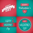 Happy Valentine's Day Card set — Stockvectorbeeld