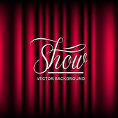 Theatre Show Vector Background — Stock Vector