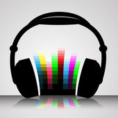 Headphones Vector Illustration — Stok Vektör