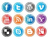 Social Vector Icon — Stock Vector