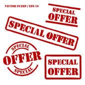 Special Offer Vector Stamps Set — Stock Vector