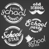 School Vector Stamp and Label — Vector de stock