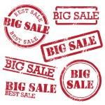 Big Sale Stamp Set — Stock Vector #42508917