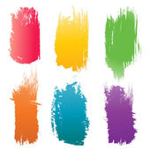 Set of vector color Brush Stroke — Stock Vector