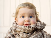 Image of cute baby boy,portpait on wite background, sweet todler — ストック写真