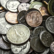 Pile of American Coins US Money One Dollar Coin — Stock Photo