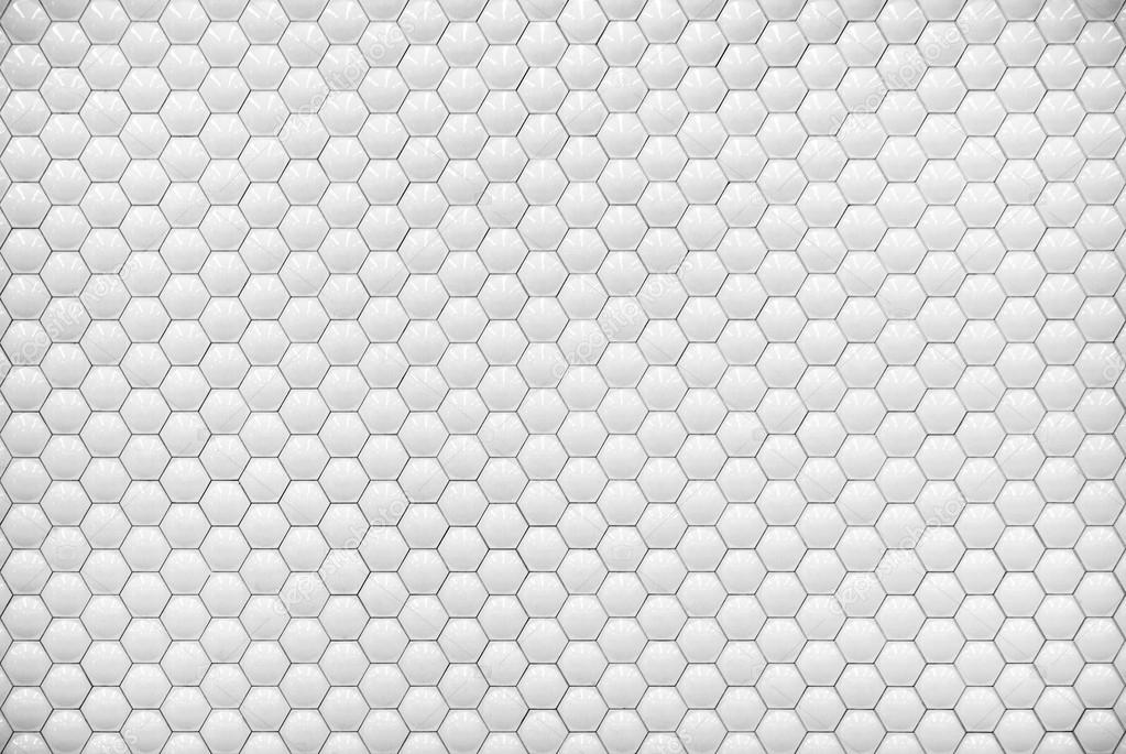 White Shiny Hexagon Bubble Tile Texture Background Stock