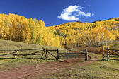 Horse Park Ranch in the Fall — Stock Photo