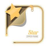 Zip zipper background — Vector de stock