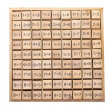 Set of simple multiplication tables wooden block — Stock Photo #40568179