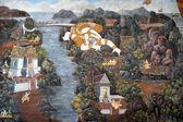 Old Thai painting — Stock fotografie