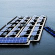 Solar cell at lake — Stock Photo #39503493