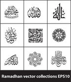 Ramadhan vector collections 01 — Stok Vektör