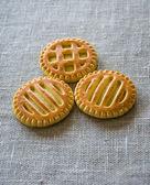 Round biscuits. — Stock Photo