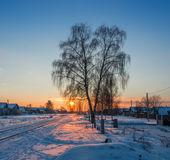 Kış akşam. — Stok fotoğraf