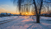 Winter evening. — Stock Photo