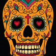 Stock Vector: Mexicsugar skull