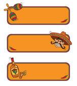 Mexican frames — Stock Vector