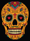 Mexican sugar skull — Stock Vector