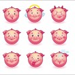 Smileys pigs — Stock Vector #32174223