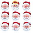 Smilies santa claus — Stock Vector