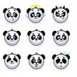 Smileys pandas — Stock Vector