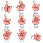 коллекция руки — Cтоковый вектор